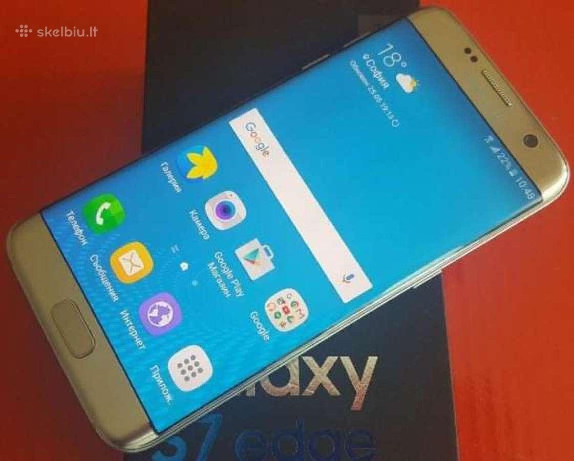 Samsung Galaxy S7 Edge. Garantija. Naujas.