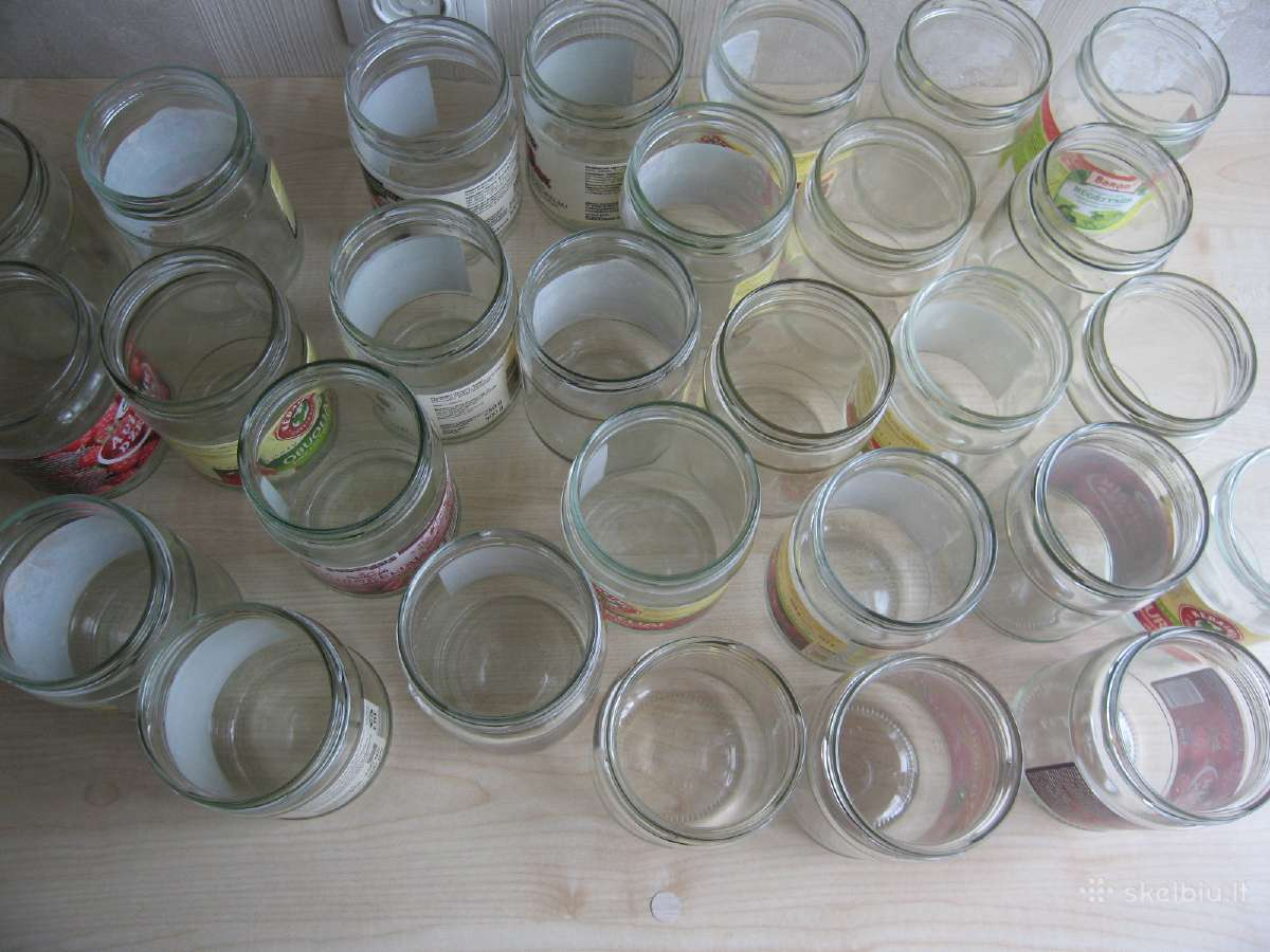 Naudoti užsukami stiklainiai 0,5ltr