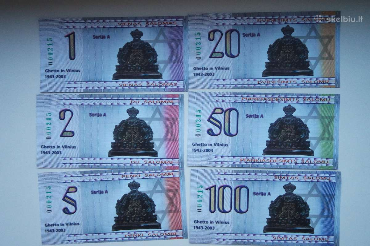Ghetto in Vilnius banknotai