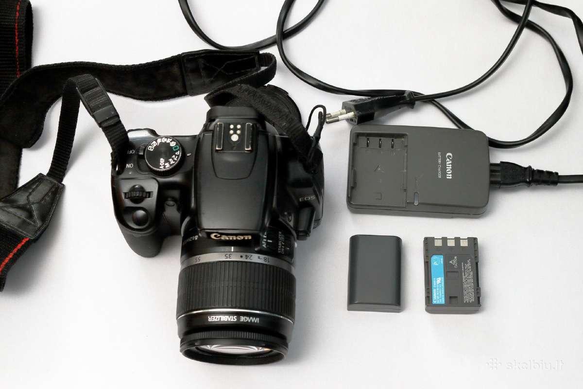 Geras Canon EOS 400d su 18-55 objektyvu