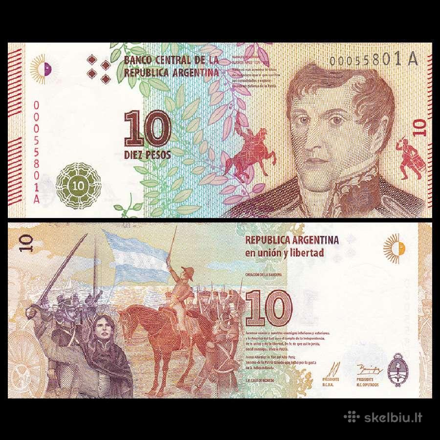 Argentina 10 Pesos 2016m. Unc