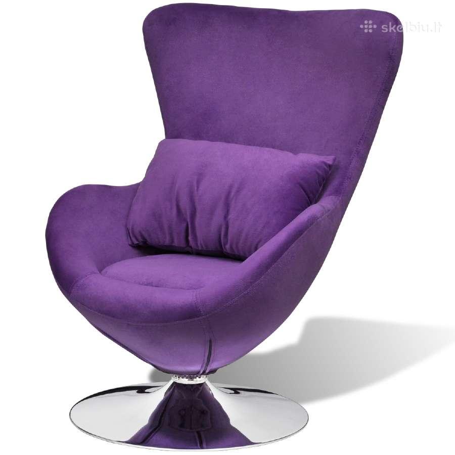 Mažas, Purpurinis Sukamasis Krėslas, vidaxl