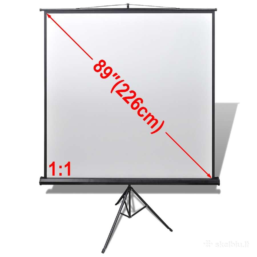 Projektoriaus Ekranas su Stovu, 160x160 cm, vidaxl