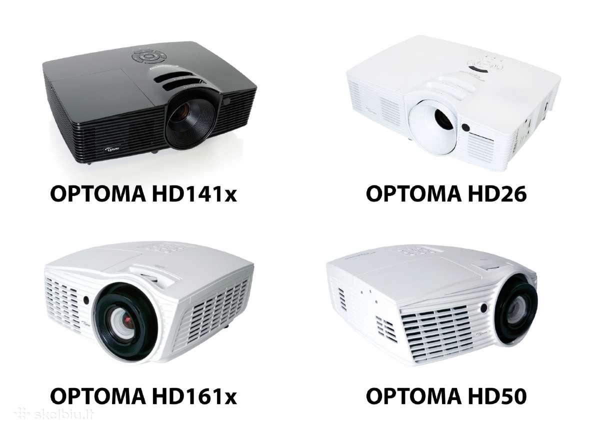 Optoma, Benq, Epson full HD namu kino projektorius