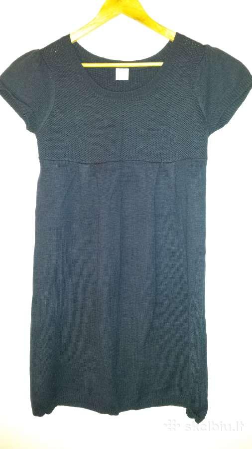 Šilta suknelė tunika tamsiai mėlyna su vilna 14 d.