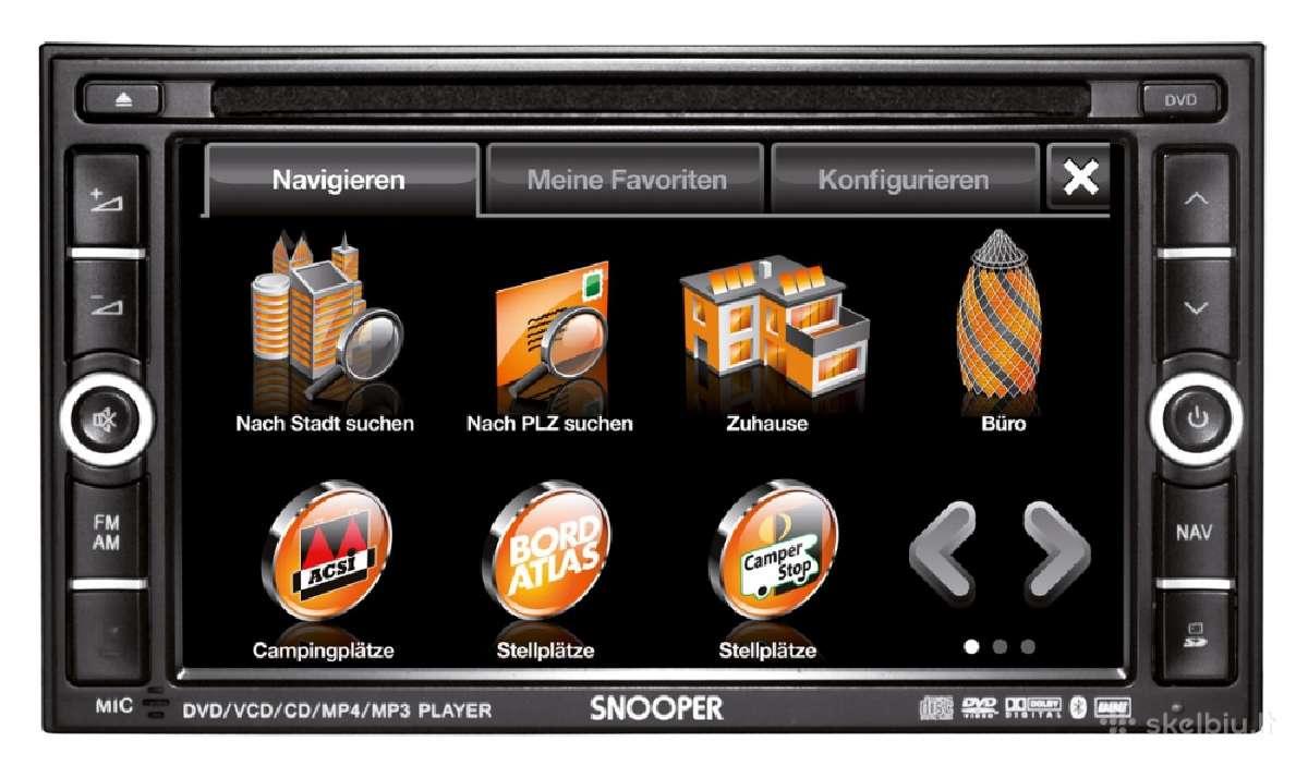 Auto multi funkcinis Snooper Avn S9020. Naujas