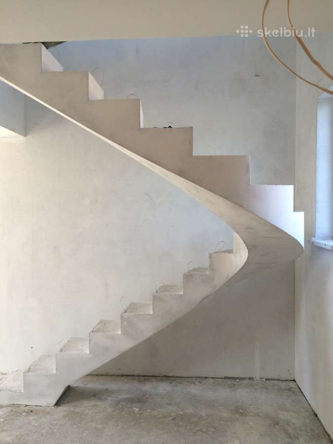 Laiptu betonavimas. Betoniniai laiptai
