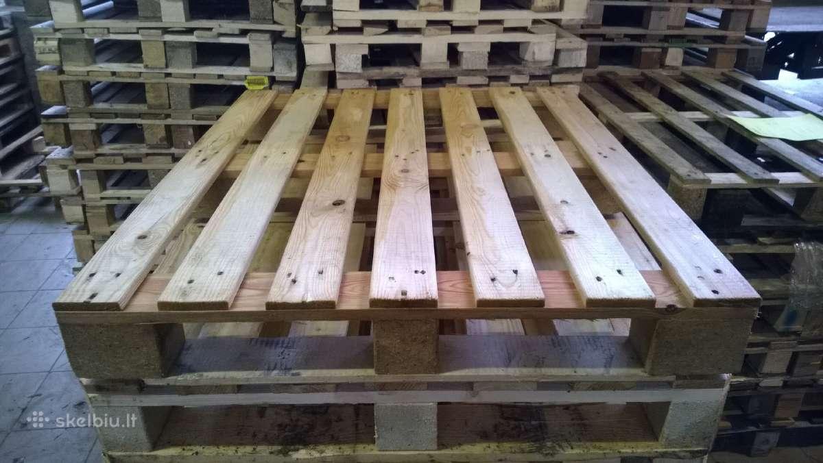 Mediniai padeklai 1200x1000 medines paletes