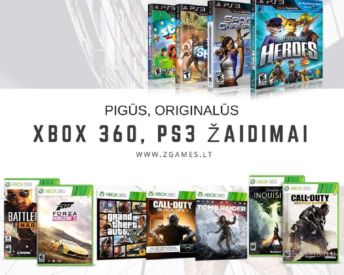 Pigūs, Originalūs PS3 ir Xbox 360 žaidimai pigiai!