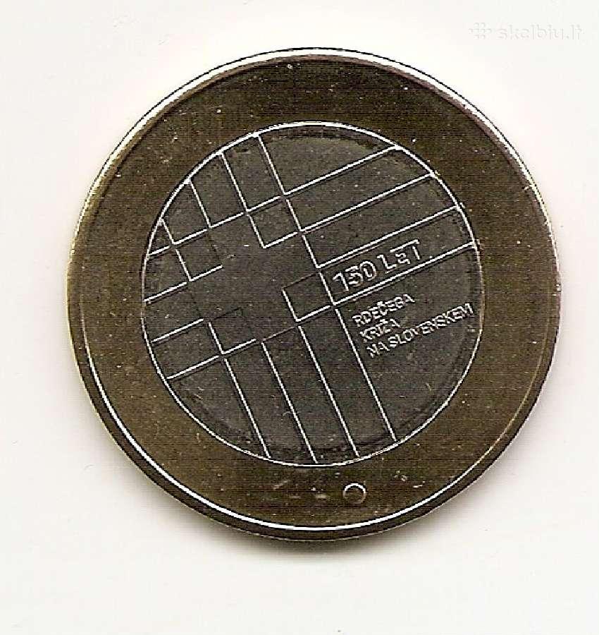 Slovenija 3 eur 2016 150m raudonajam kryziui