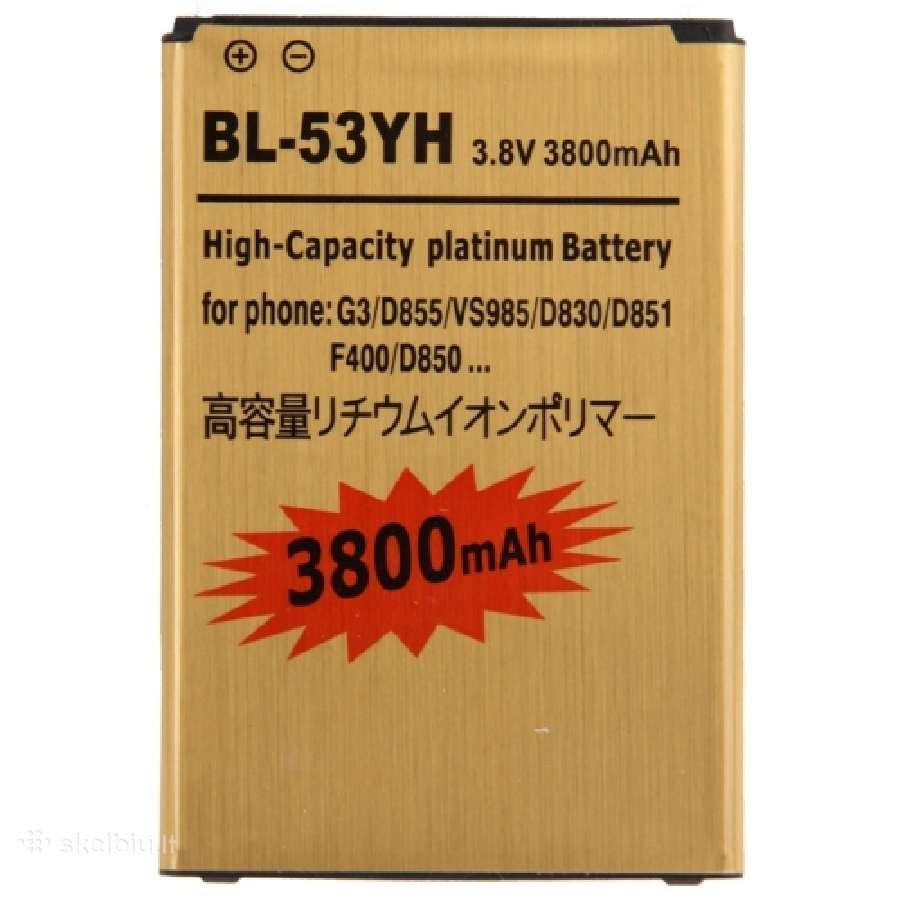 Lg G3 padidintos talpos baterija 3800mah