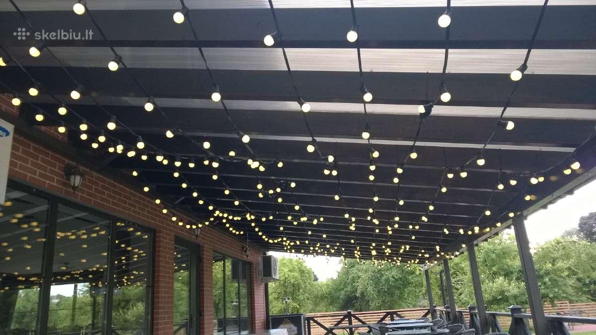 Led lempučių girliandų nuoma