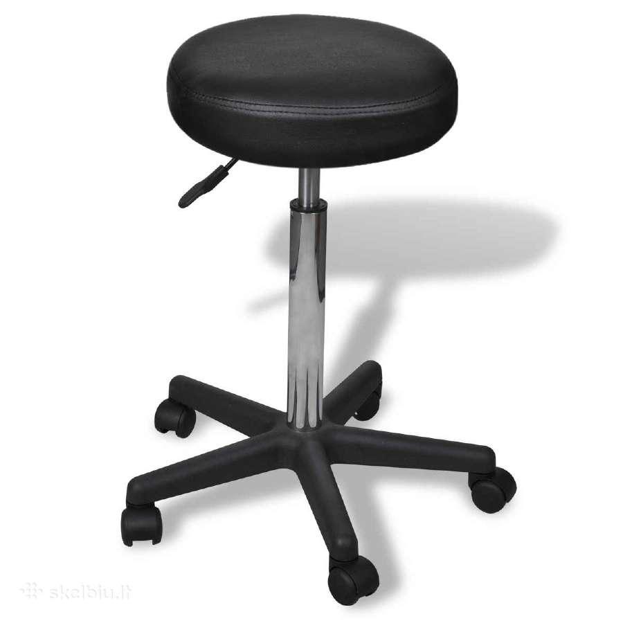 Juoda Biuro Kėdė, vidaxl