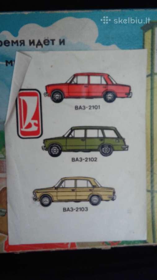Tarybinių laikų lipdukai su Vaz automobiliais