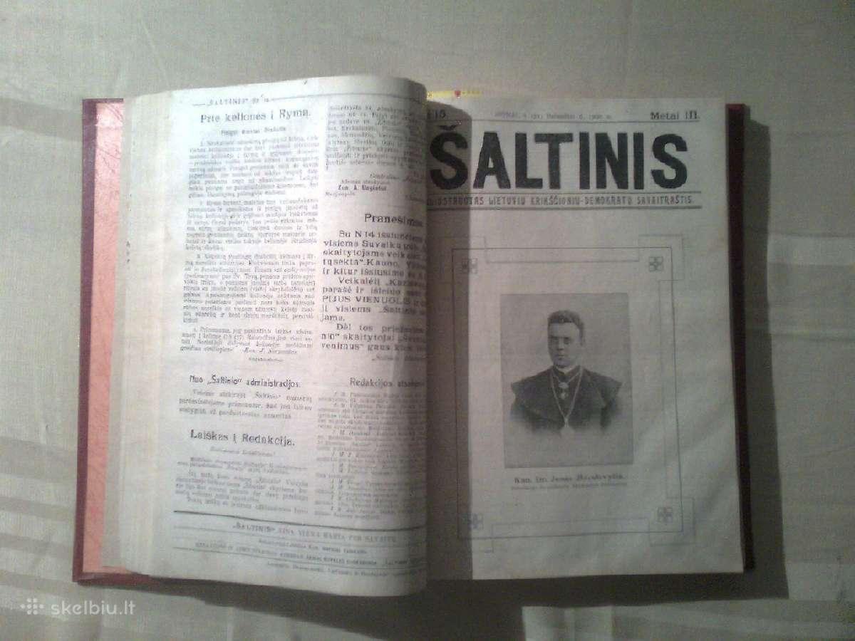 """Savaitrascio """"Saltinis"""" iristas komplektas 1908m."""