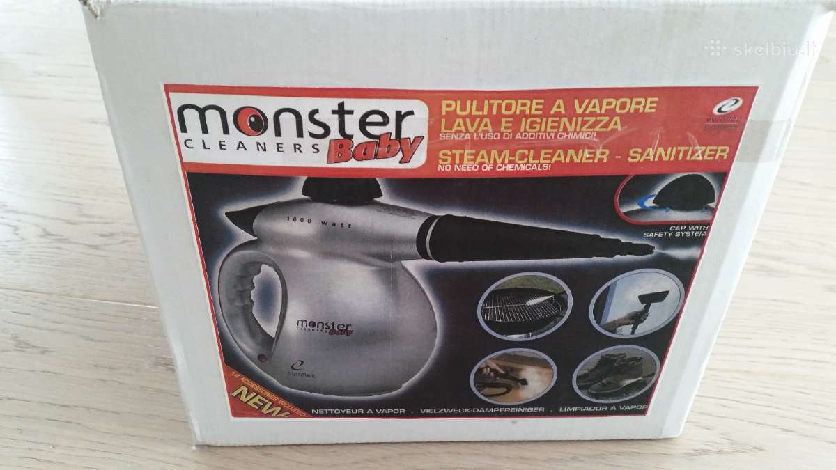 Valymas karstais garais Baby Monster steam cleaner