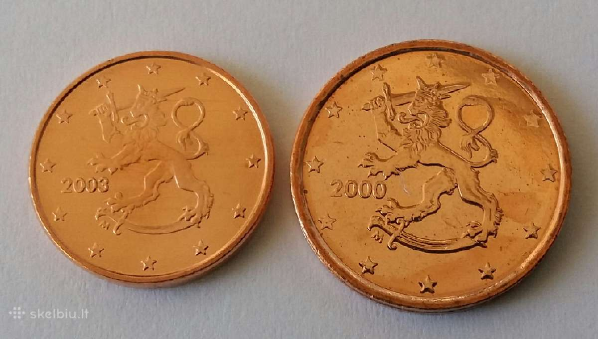 Suomija 1-2 centai