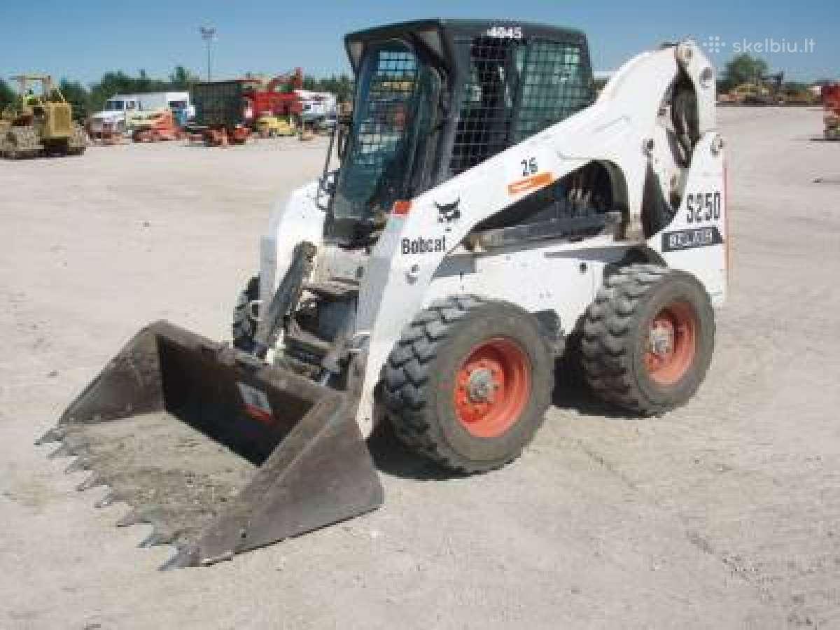 Bobcat S250 Nuoma nuo 21€/val,polių grežimas