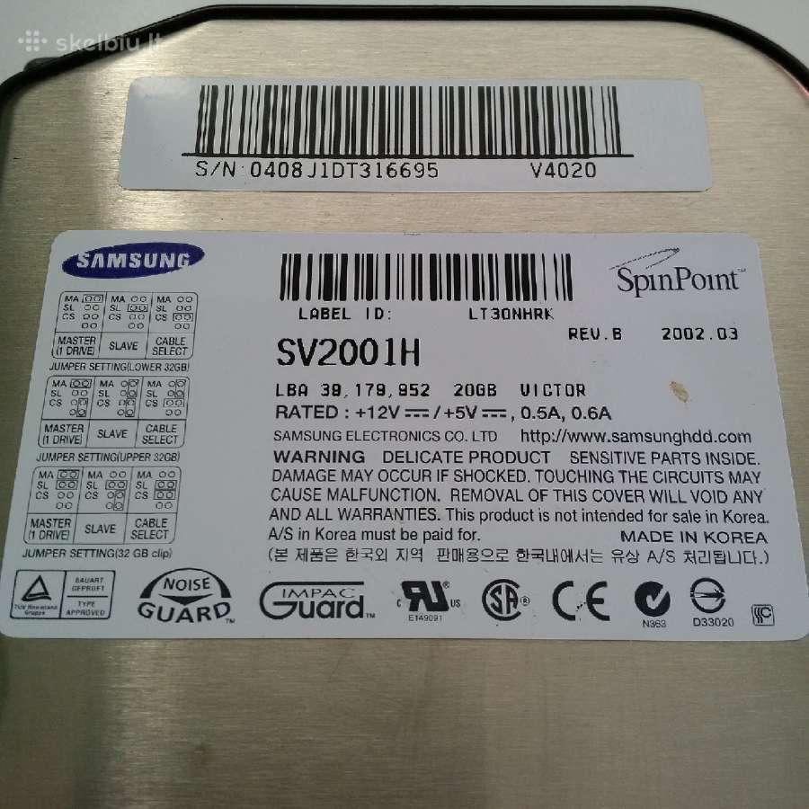 Samsung Spinpoint Sv2001h (V4020) 20gb 5400rpm