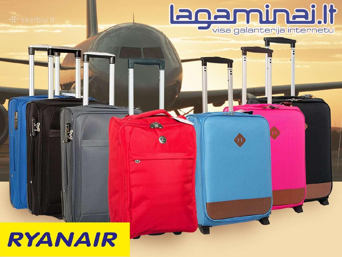 Platus lagaminų į Ryanair pasirinkimas nuo 12 eurų