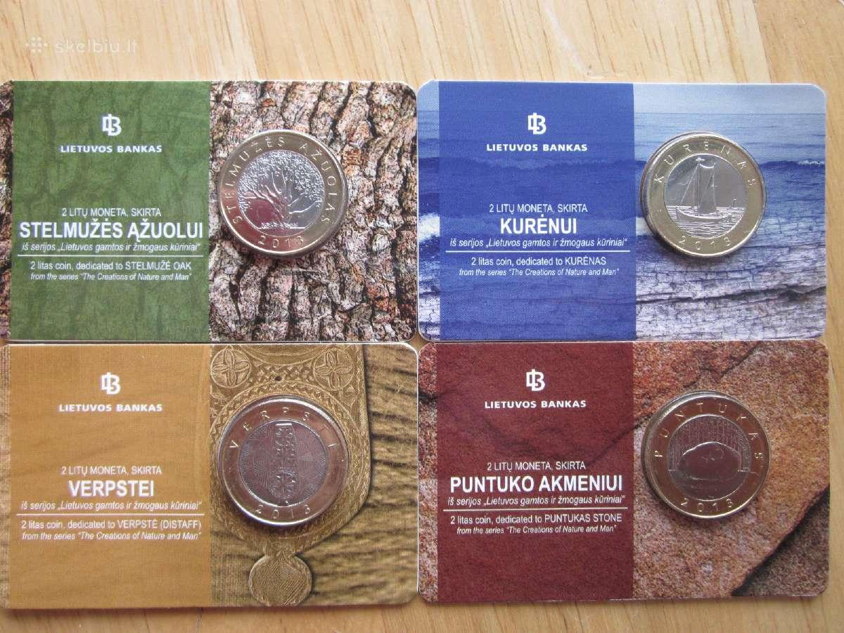Lietuva 2013 proginių 2 litų rinkinys kortelėse
