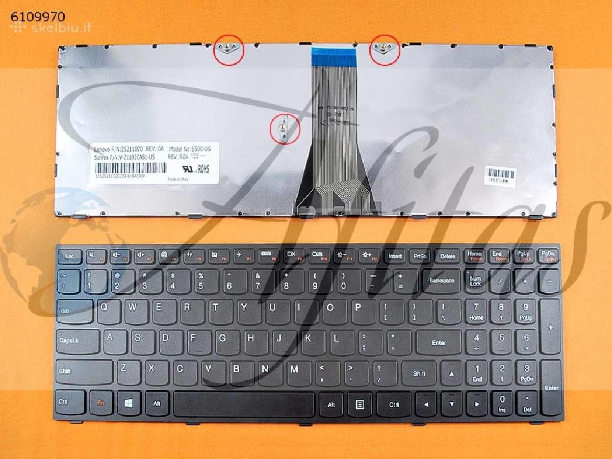Klaviatūra Lenovo y500,g 500 ir kitos