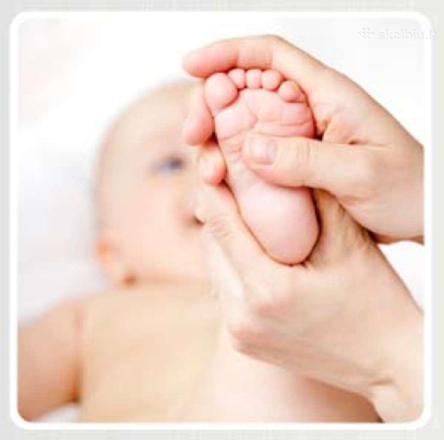 Masažas ir gydomosios mankštos kūdikiams namuose