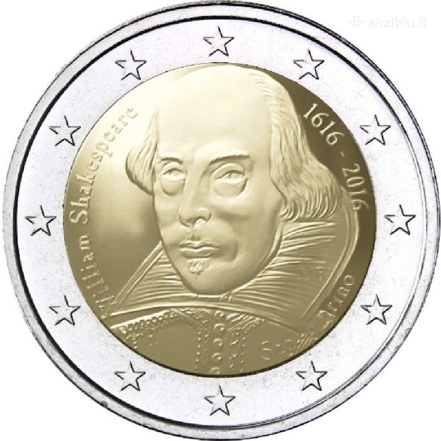 San Marinas 2 euro 2016 William Shakespeare