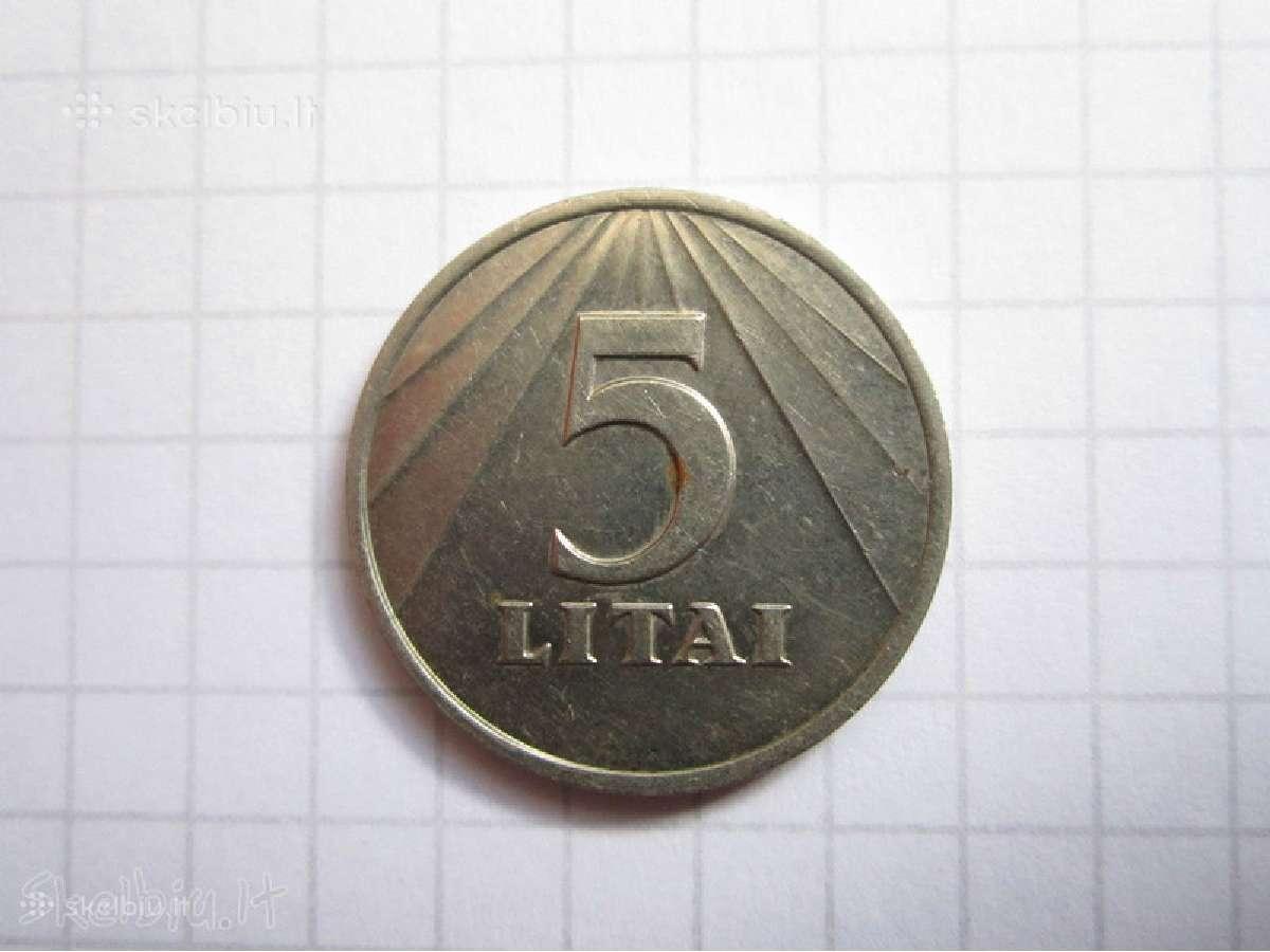 Kaune - perku 5 2 ir 1 Lito monetas 1991 metu