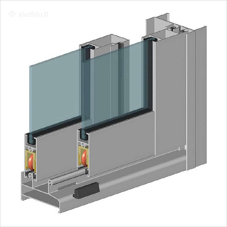 Šaltas balkonų ir lodžijų stiklinimas iš aliuminio