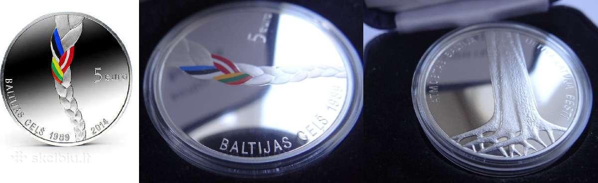 Lietuva, Latvija, Estija Baltijos kelio 25m moneta