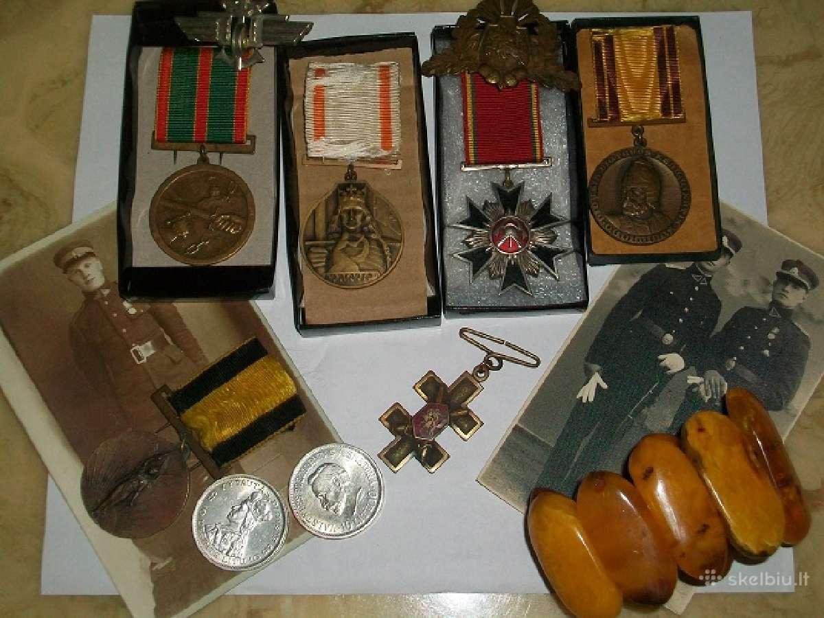 Perku monetas, apdovanojimus, medalius,zenklus