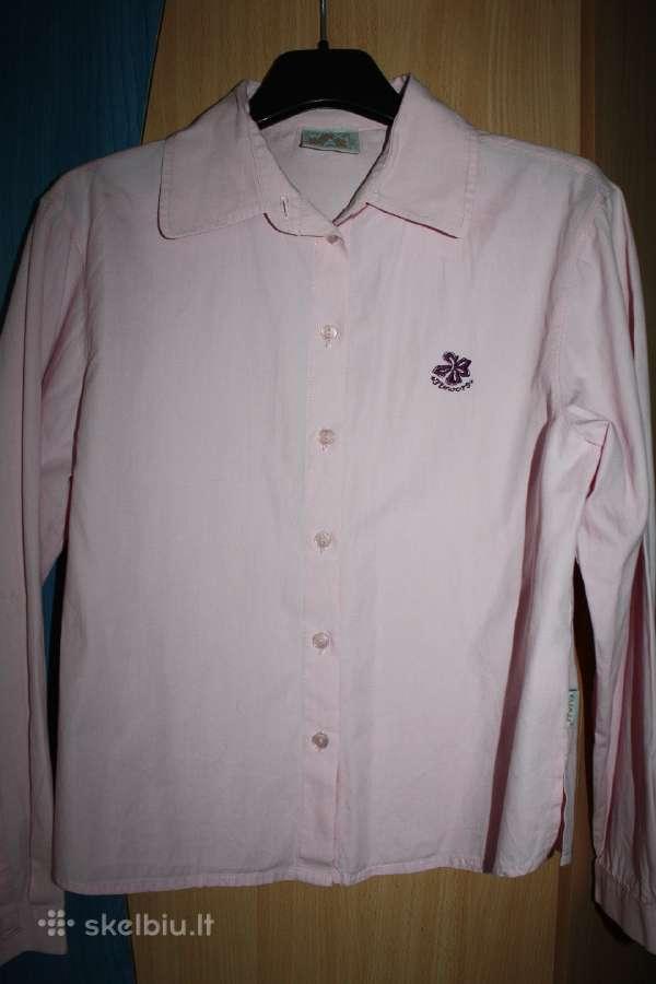 Rožiniai marškinėliai 12 m. mergaitei