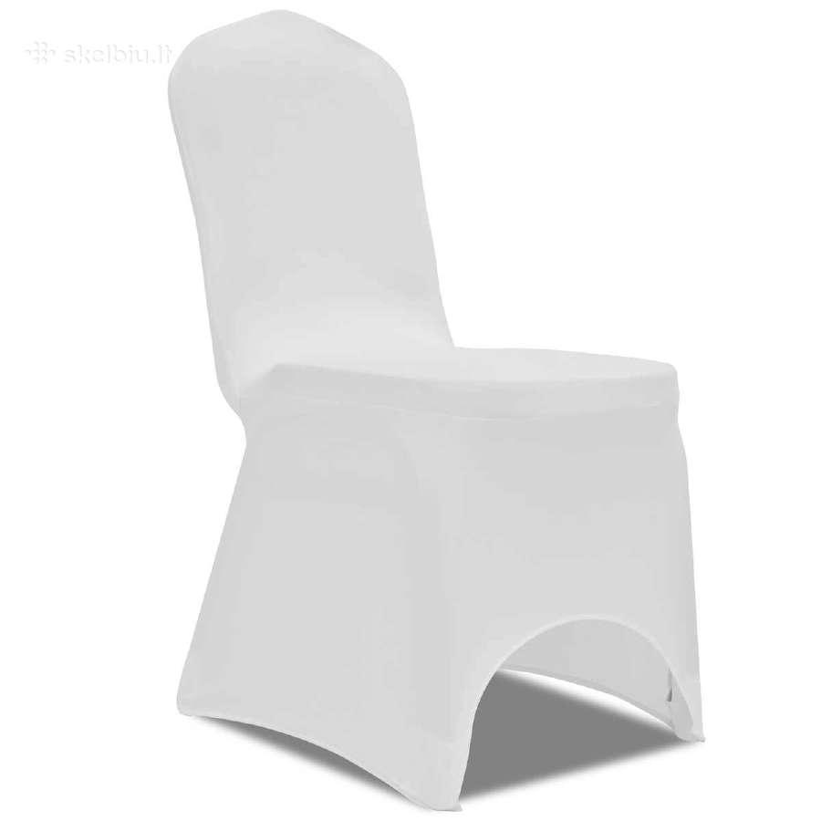 Tamprūs Užvalkalai Kėdėms, Balti, 50 Vnt., vidaxl