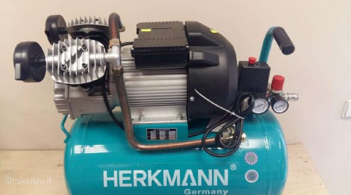 Vokiškas kompresorius Herkmann 2c/50l 380l/min