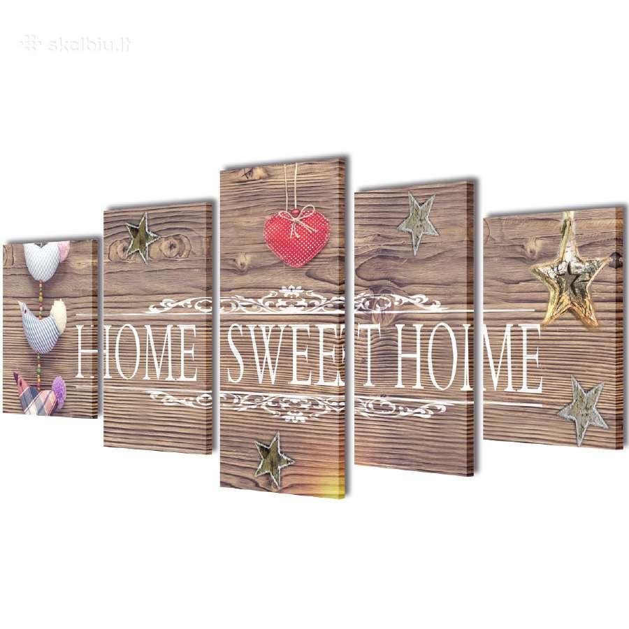 """Fotopaveikslas su Užrašu """"Home Sweet Home"""" vidaxl"""