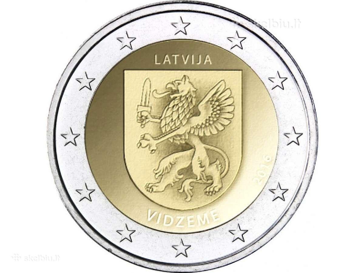 2 Eurų moneta, Latvija Vidzeme
