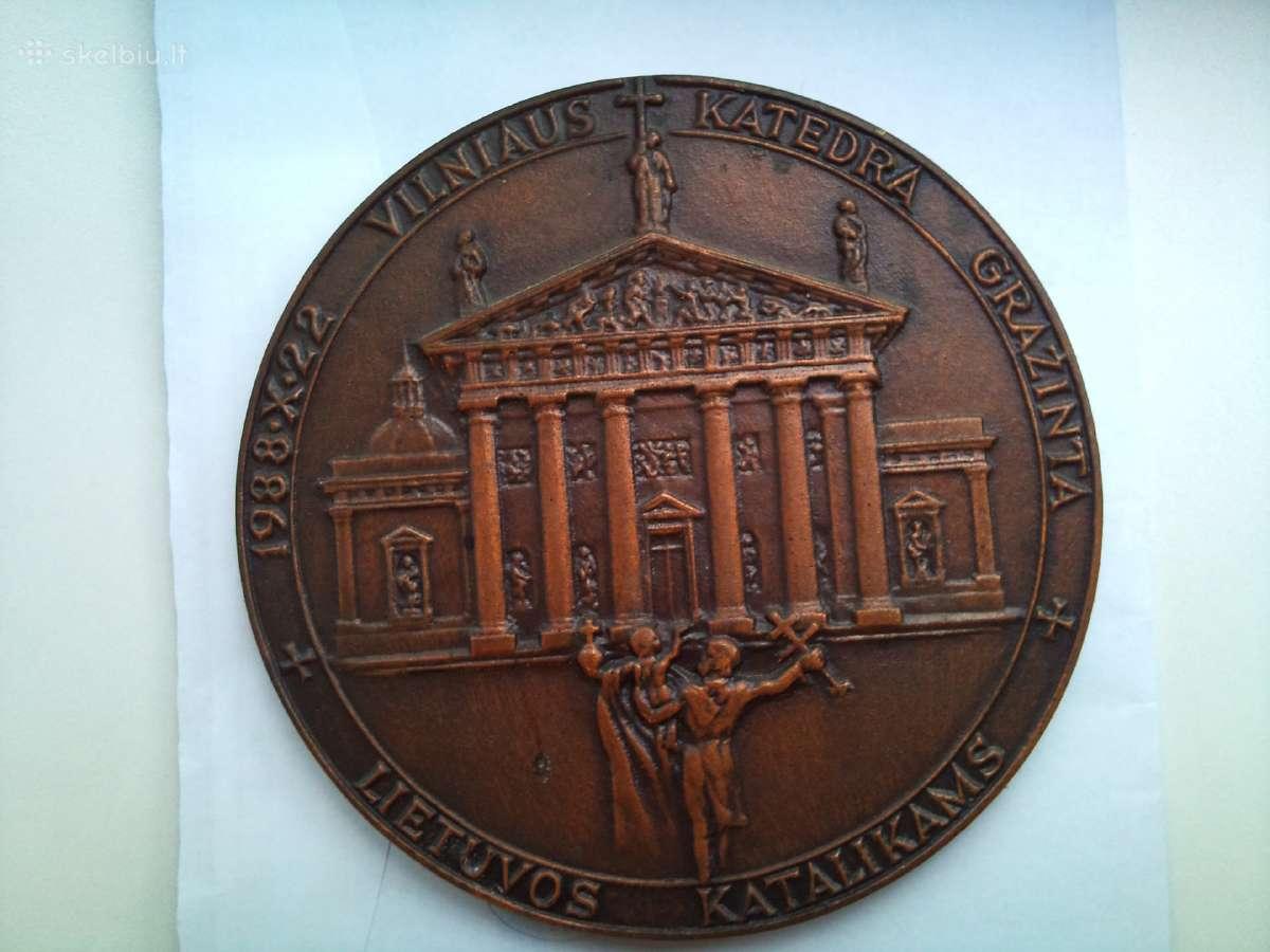 "Medalionas ""Vilniaus Katedra Grąžinta L."""