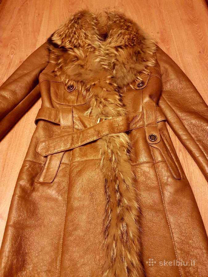 Naturalaus kailio paltas