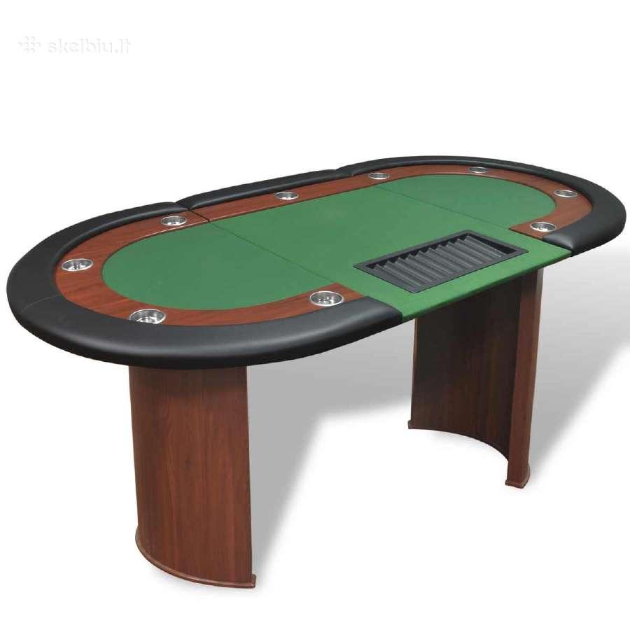10 Žaidėjų Pokerio Stalas su Vieta Dalintojui