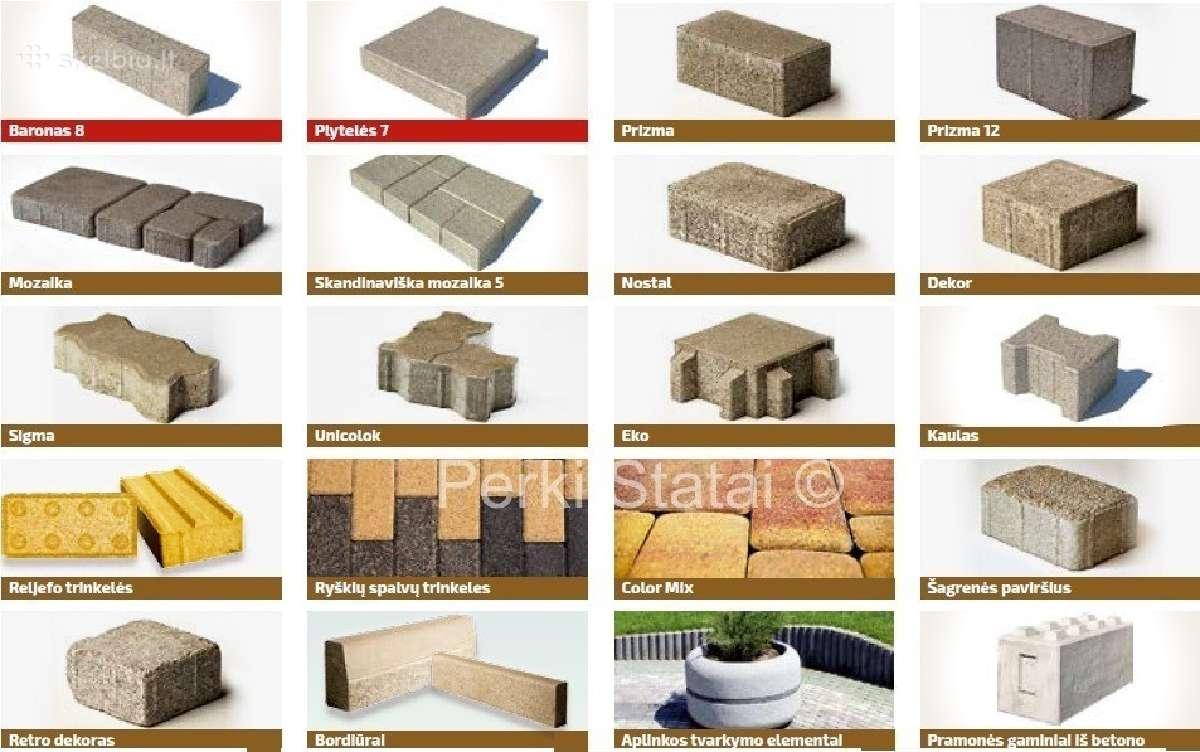 Brikers betoninės trinkelės ir borteli