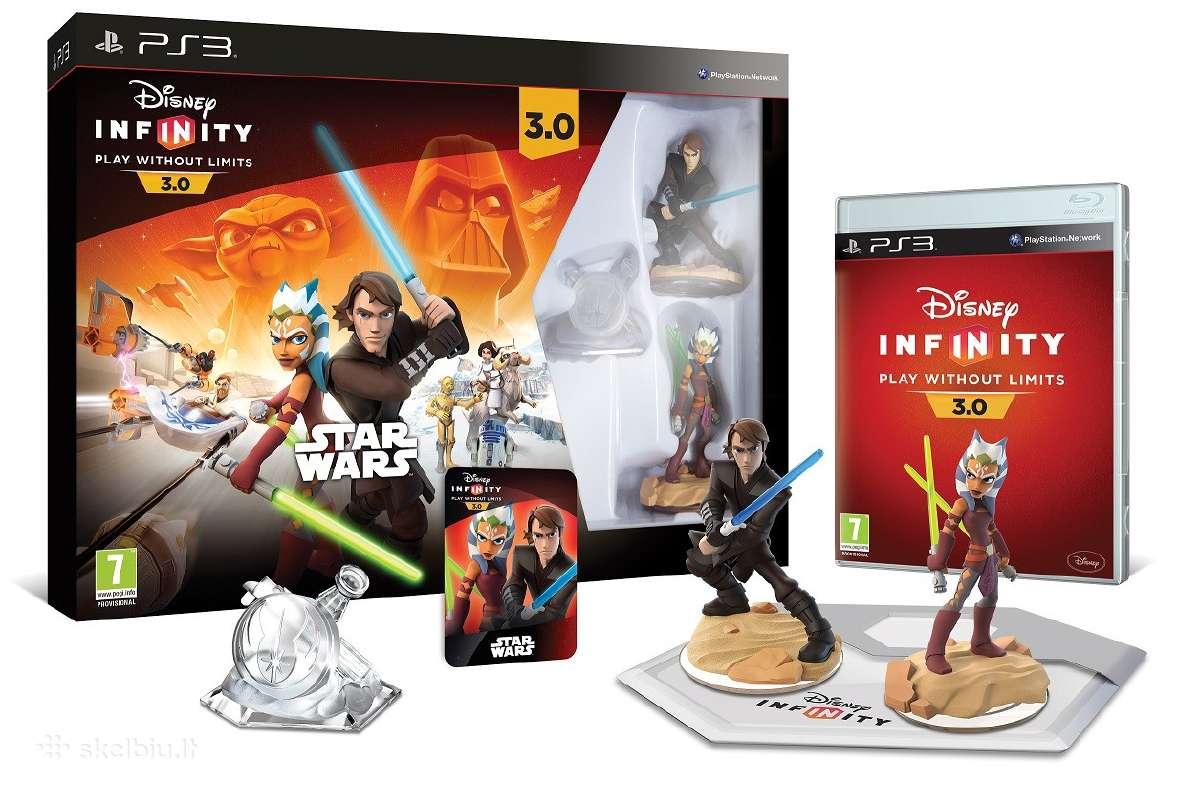 Ps4, PS3 Disney Infinity 3.0 Star Wars + figūrėlės