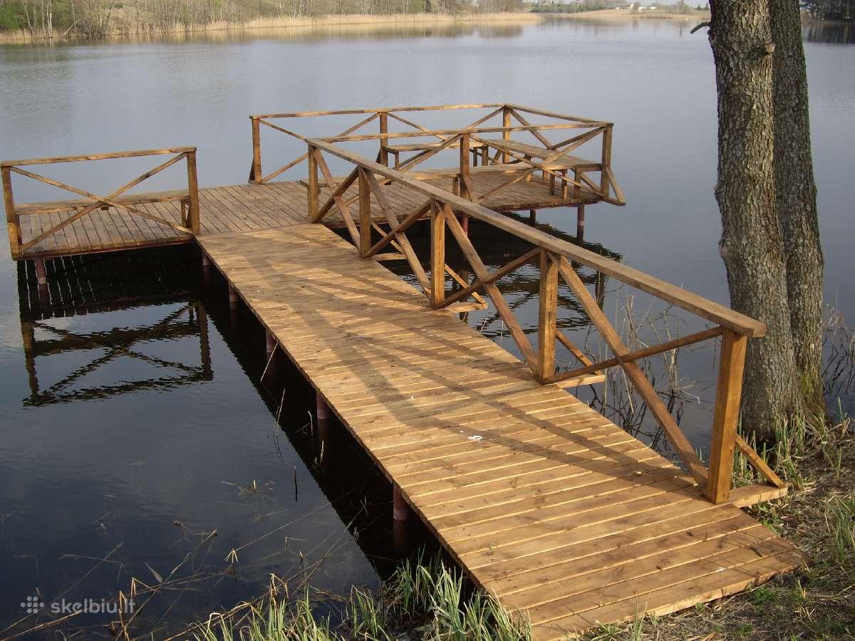 Lieptai Tiltai. Polinių tiltų lieptų statyba