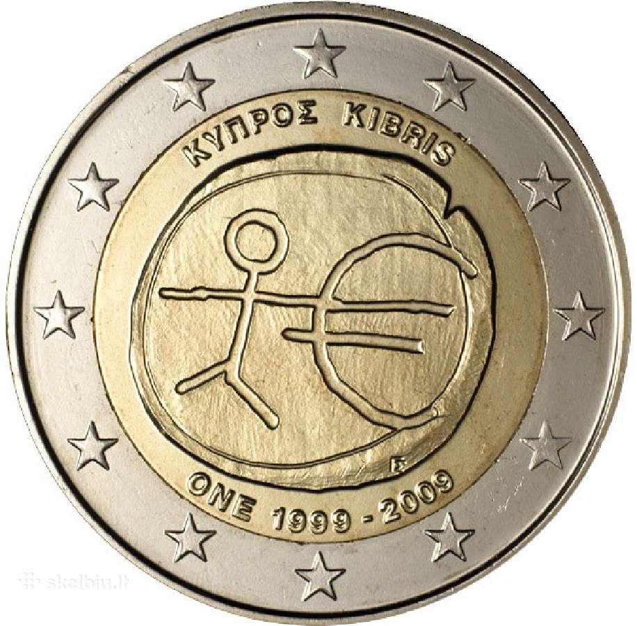Kipras 2 euro monetos Unc