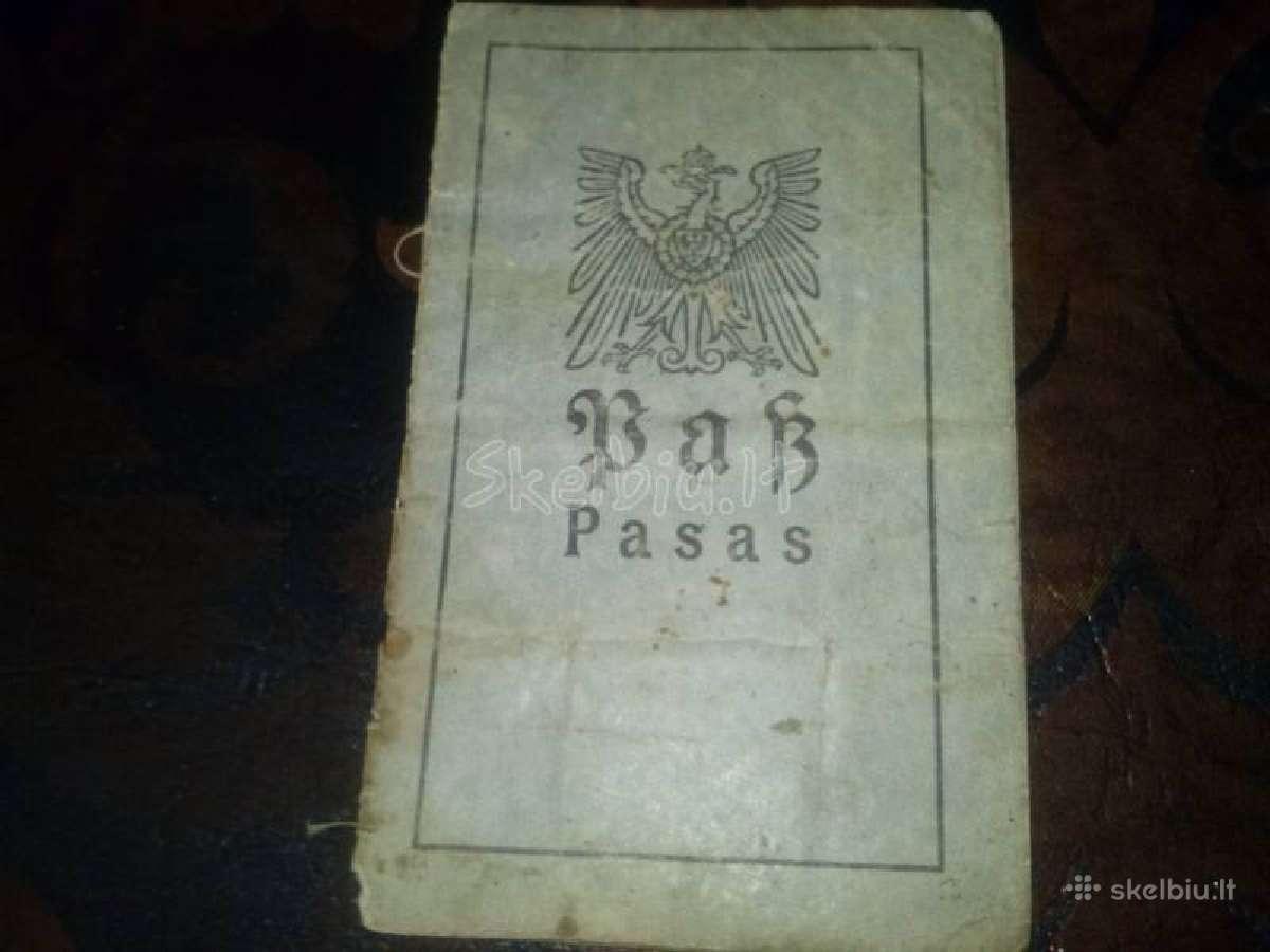 1917 metų vokiškas pasas utenos apskrities