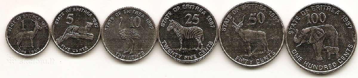 Eritrejos monetu rinkinukas