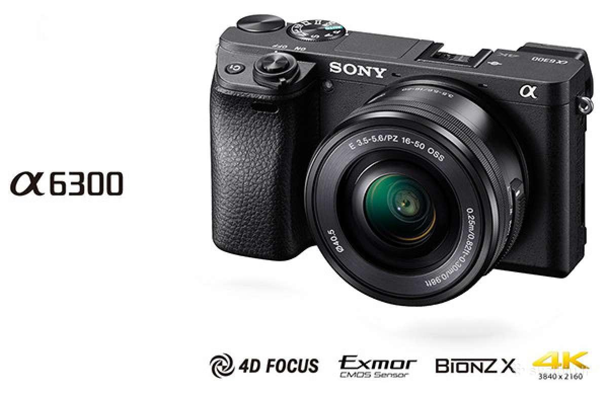 Sony Alpha A5000, A6000, A6300 , A7, fotoaparatas