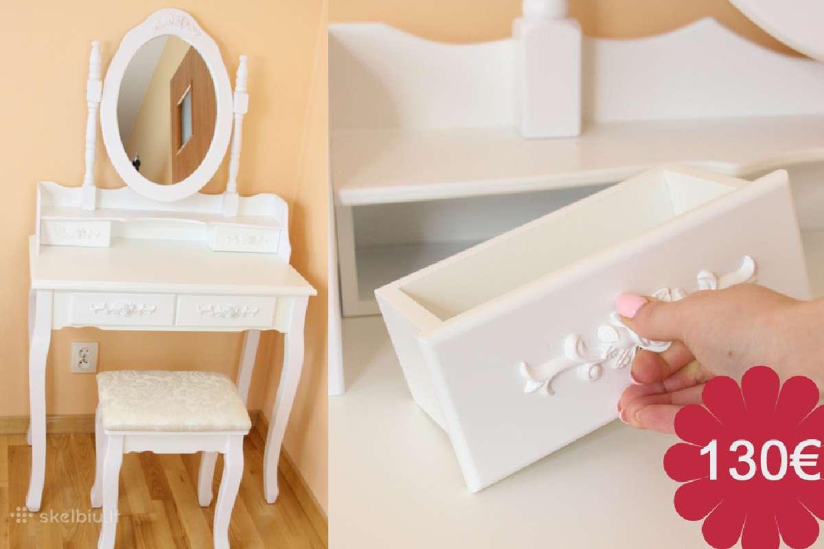 Tualetinis staliukas su kede,veidrodžiu dovana sau