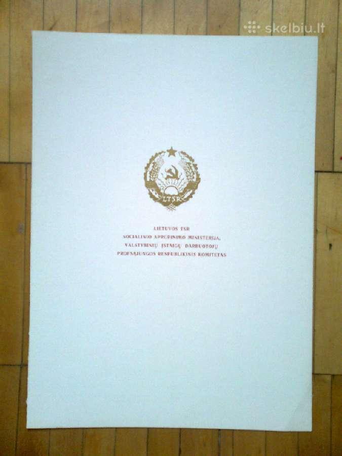 Ltsr soc. aprupinimo prof. komiteto garbes rastai