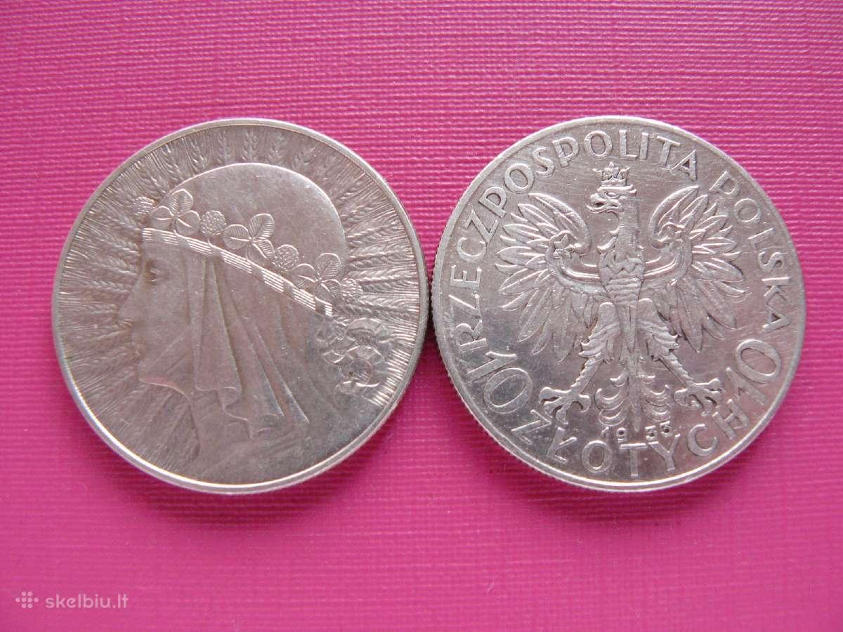 Parduodu 10 zlotų monetas.